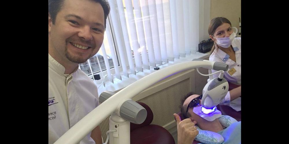 Процесс отбеливания. Результат отбеливание зубов Zoom 4